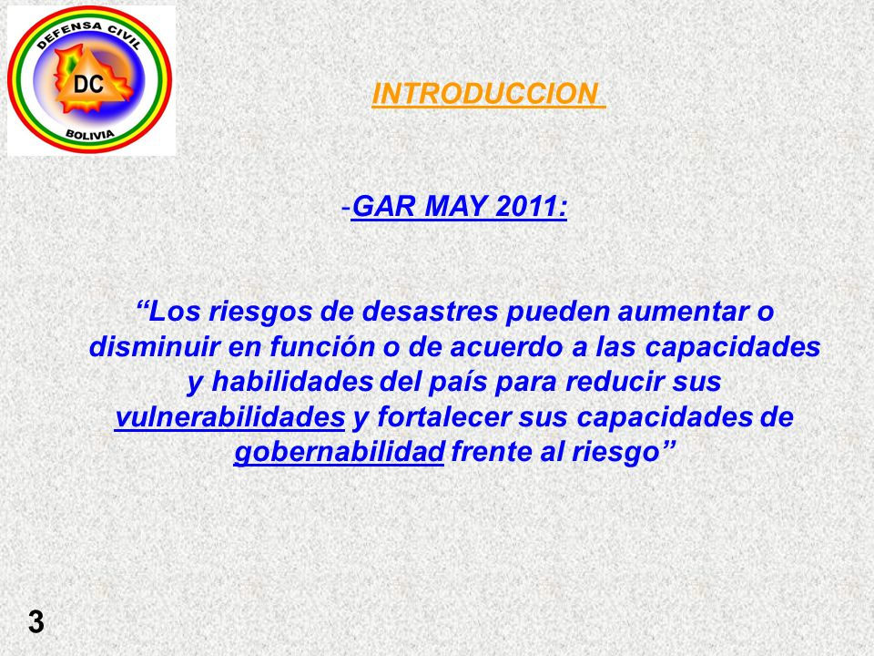 INTRODUCCION GAR MAY 2011: