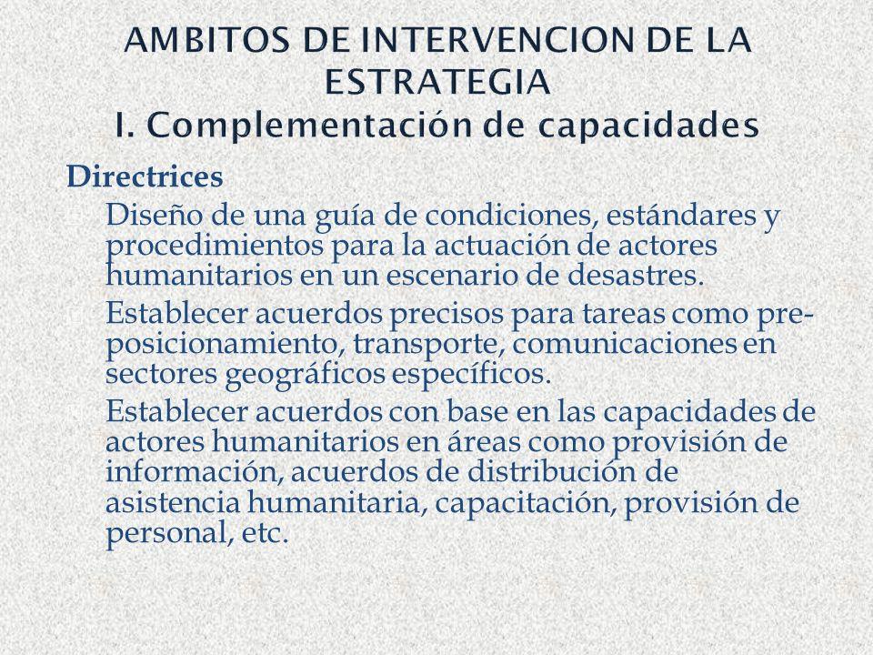 AMBITOS DE INTERVENCION DE LA ESTRATEGIA I