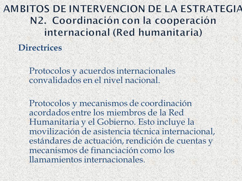 AMBITOS DE INTERVENCION DE LA ESTRATEGIA N2