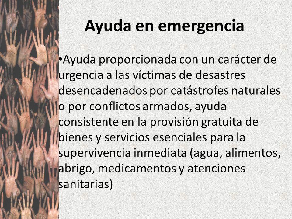 Ayuda en emergencia