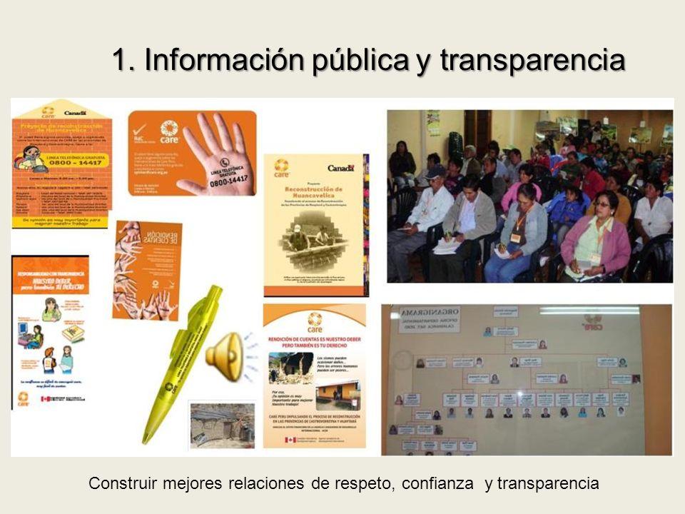1. Información pública y transparencia