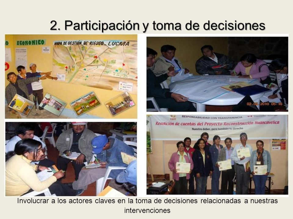 2. Participación y toma de decisiones