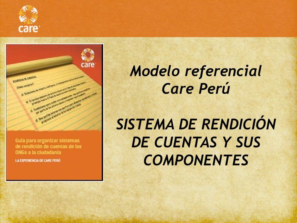 SISTEMA DE RENDICIÓN DE CUENTAS Y SUS COMPONENTES