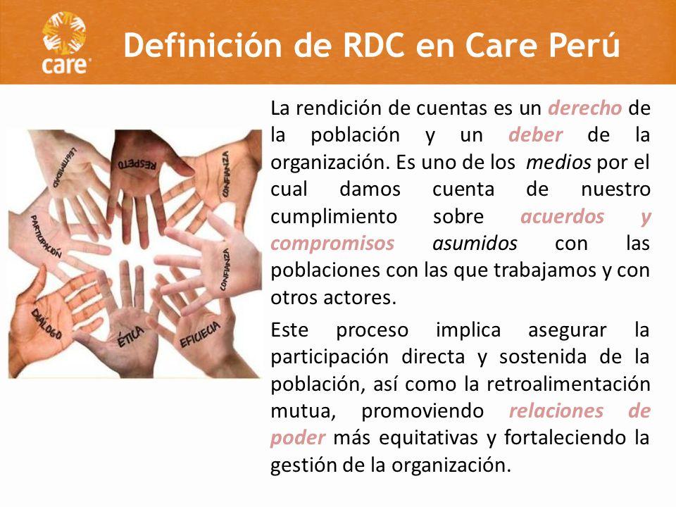 Definición de RDC en Care Perú