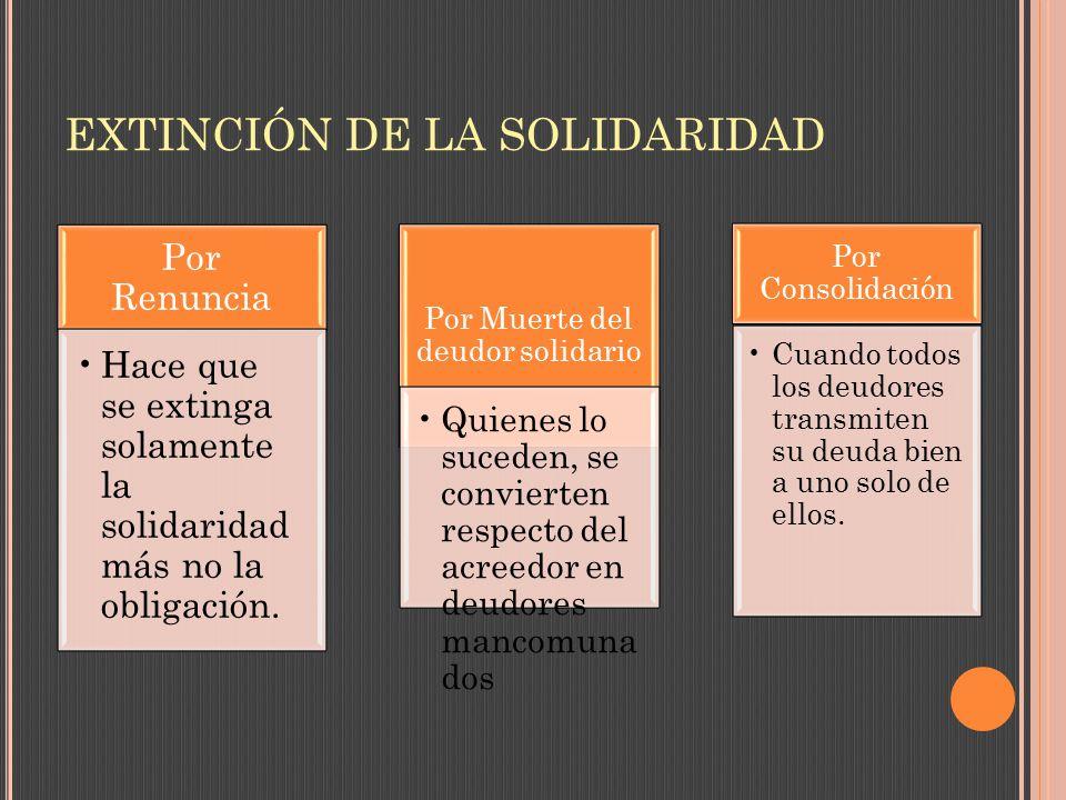 EXTINCIÓN DE LA SOLIDARIDAD