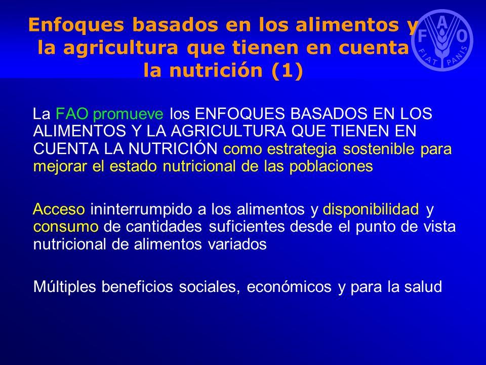 Enfoques basados en los alimentos y la agricultura que tienen en cuenta la nutrición (1)