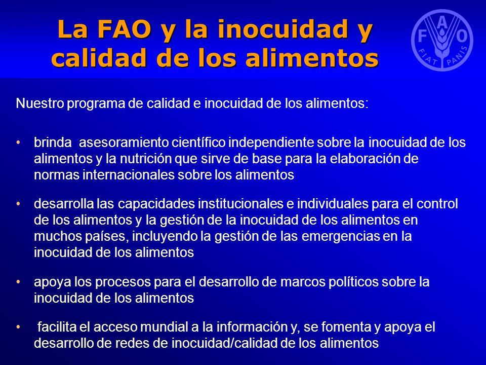 La FAO y la inocuidad y calidad de los alimentos
