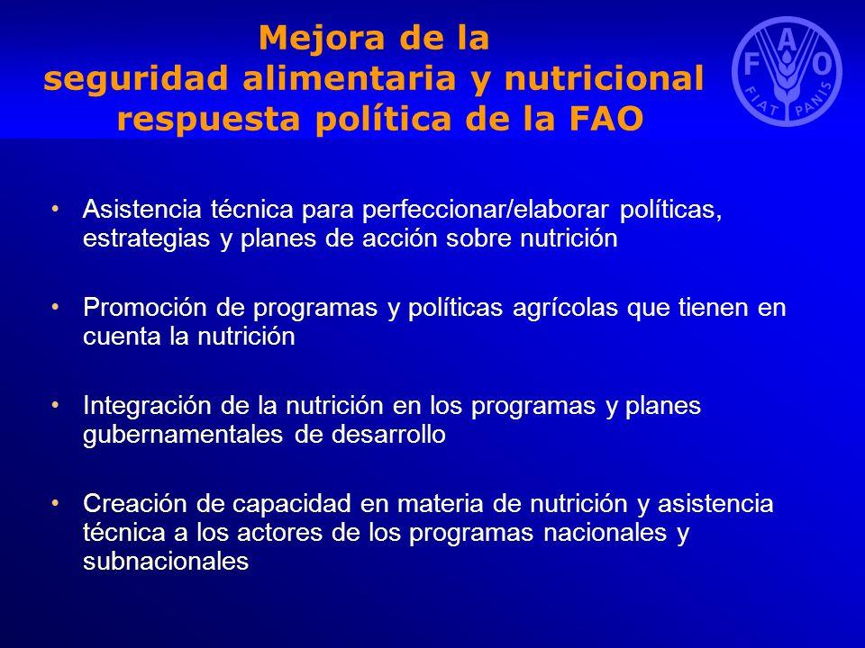 Mejora de la seguridad alimentaria y nutricional respuesta política de la FAO