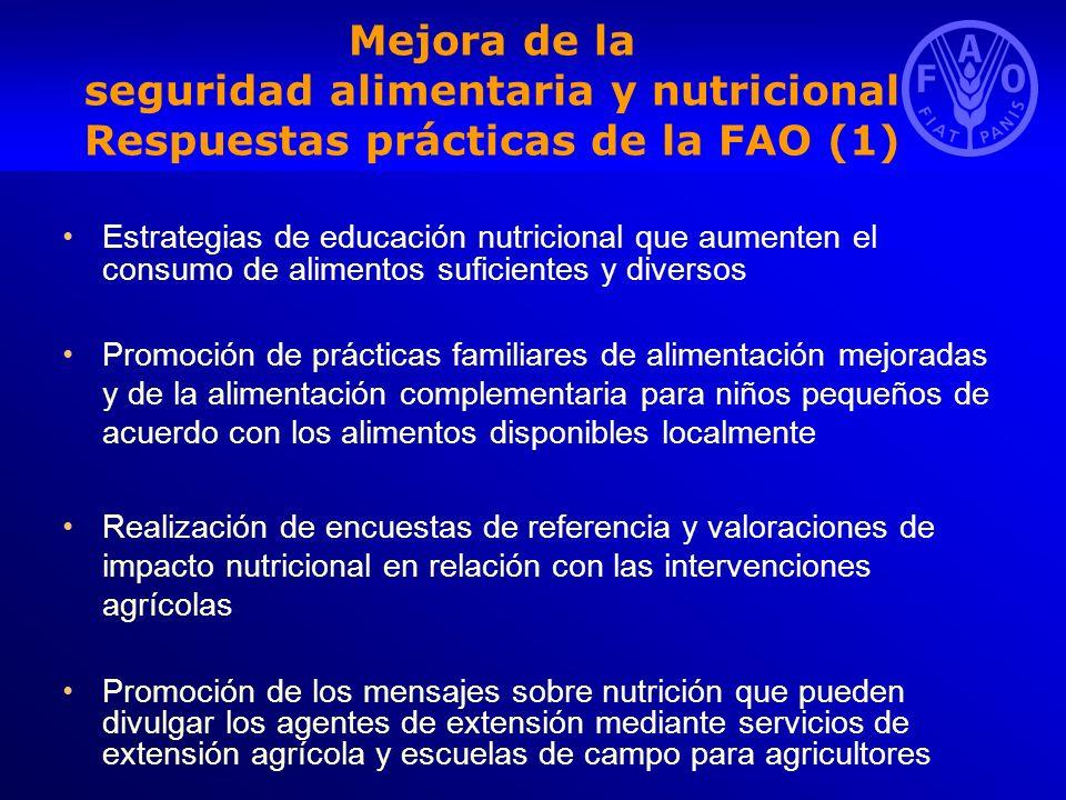 Mejora de la seguridad alimentaria y nutricional Respuestas prácticas de la FAO (1)