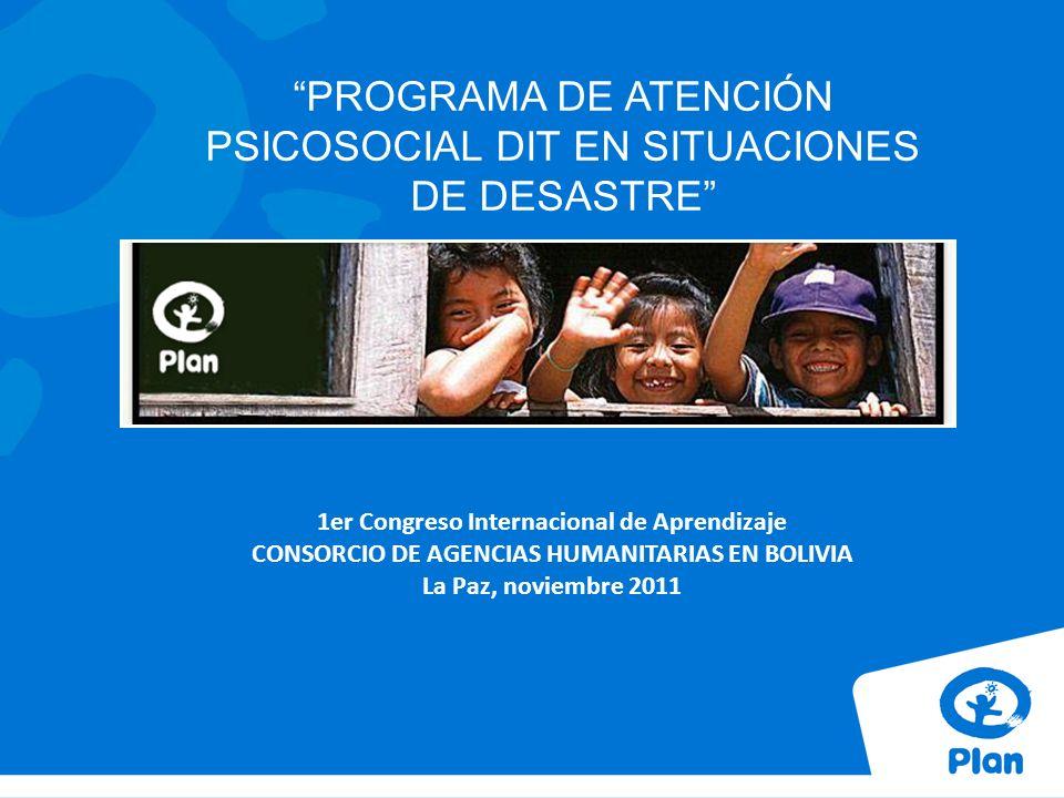 PROGRAMA DE ATENCIÓN PSICOSOCIAL DIT EN SITUACIONES DE DESASTRE