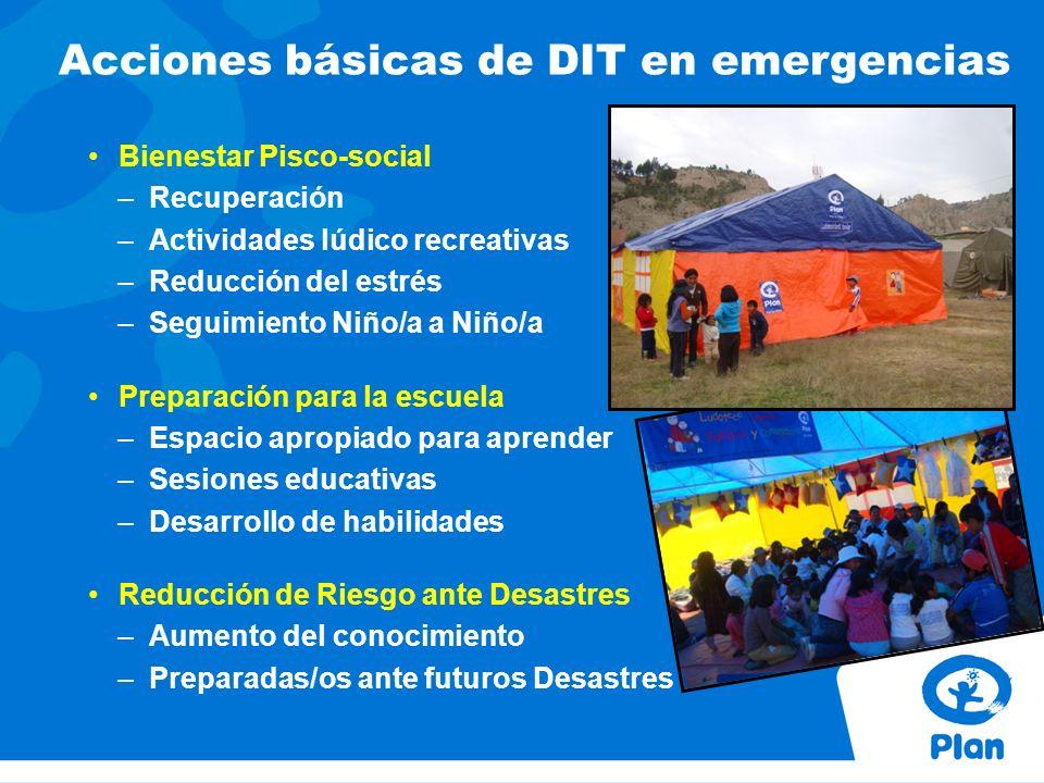 Acciones básicas de DIT en emergencias