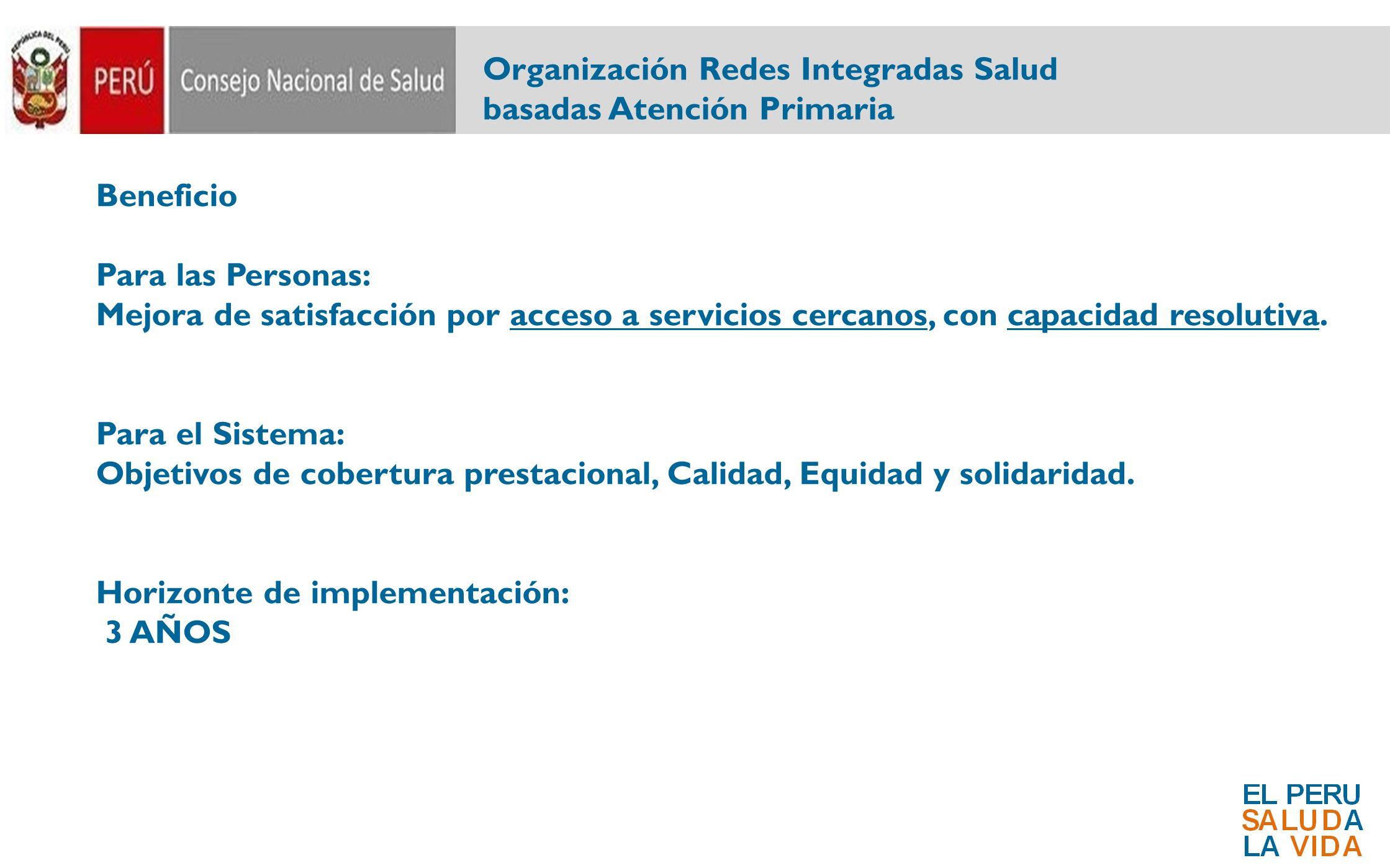 Organización Redes Integradas Salud