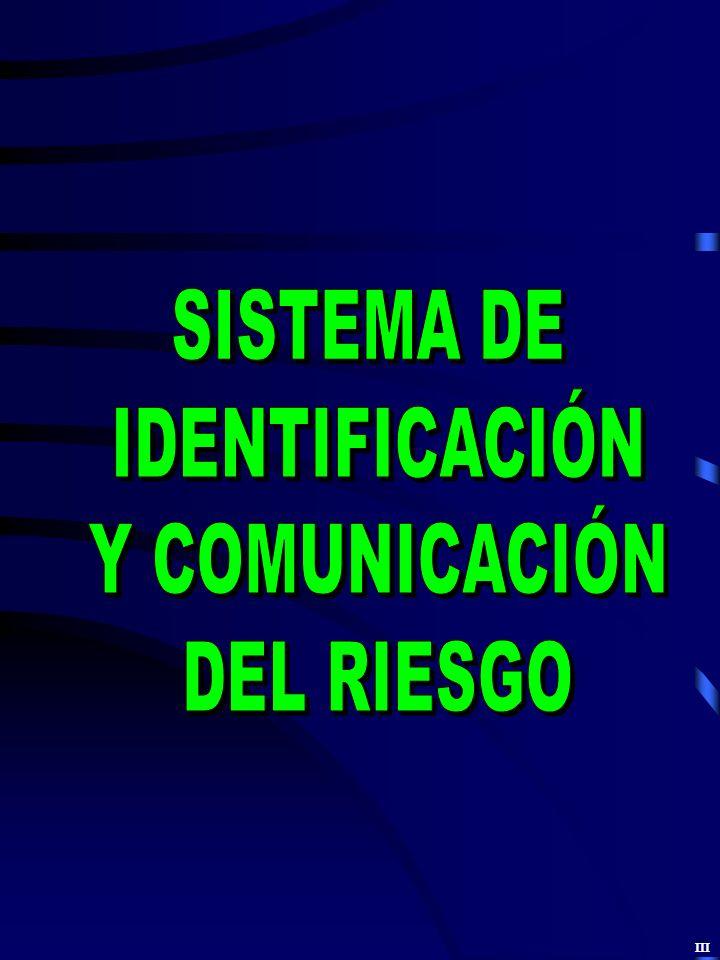 SISTEMA DE IDENTIFICACIÓN Y COMUNICACIÓN DEL RIESGO III