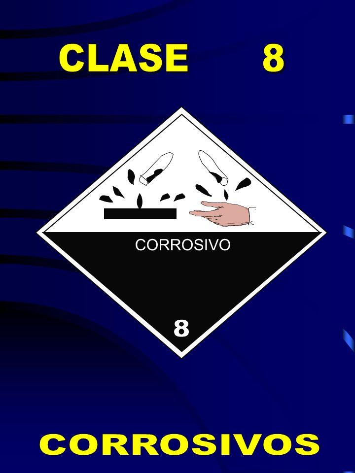 CLASE 8 8 CORROSIVO CORROSIVOS