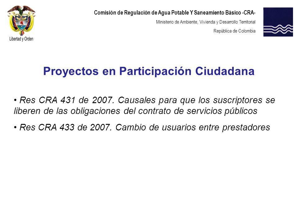 Proyectos en Participación Ciudadana