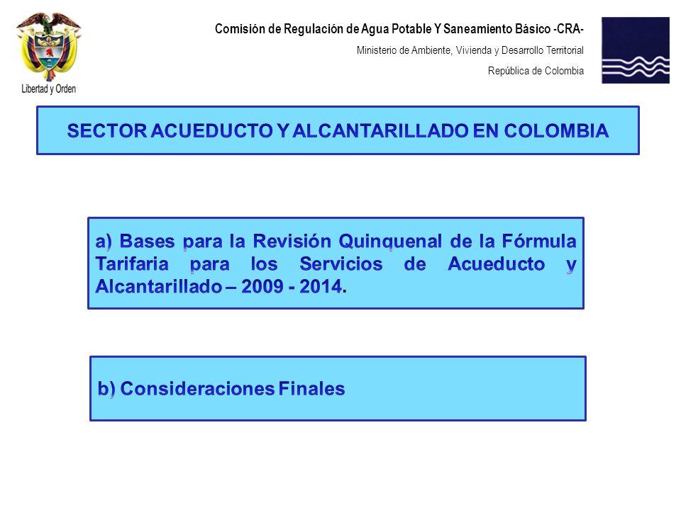 SECTOR ACUEDUCTO Y ALCANTARILLADO EN COLOMBIA