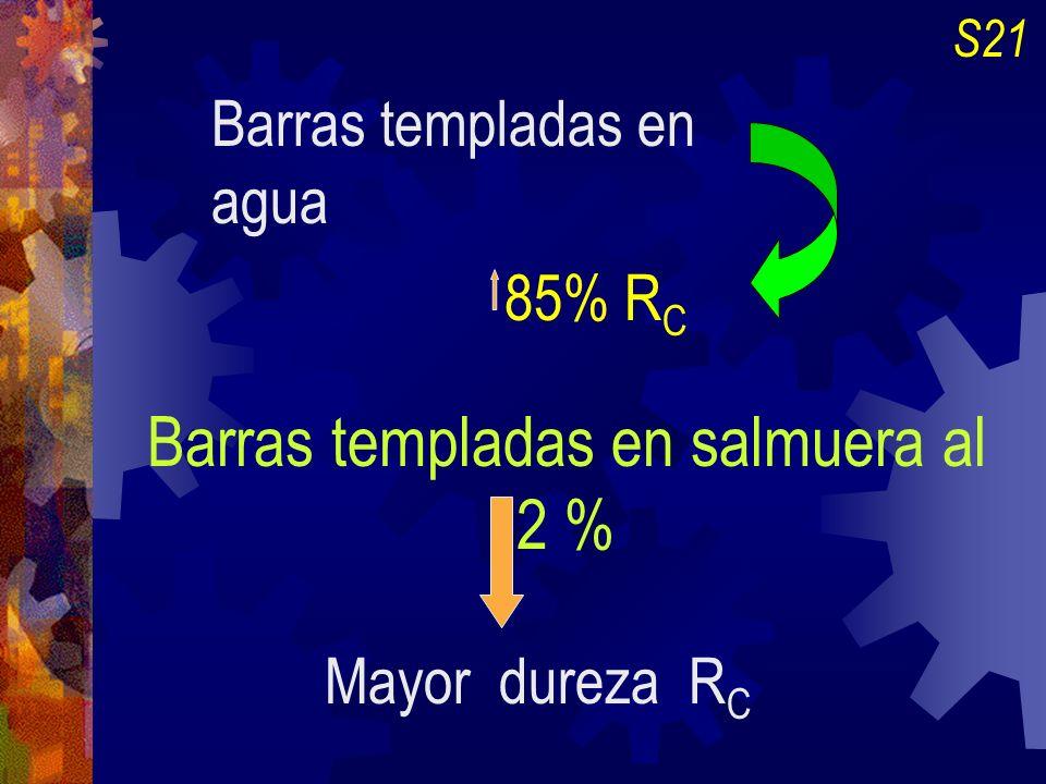 Barras templadas en salmuera al 2 %