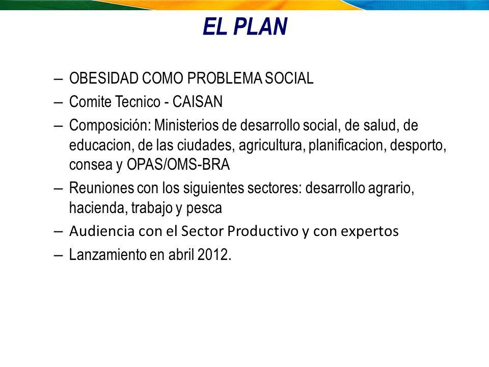 EL PLAN OBESIDAD COMO PROBLEMA SOCIAL Comite Tecnico - CAISAN