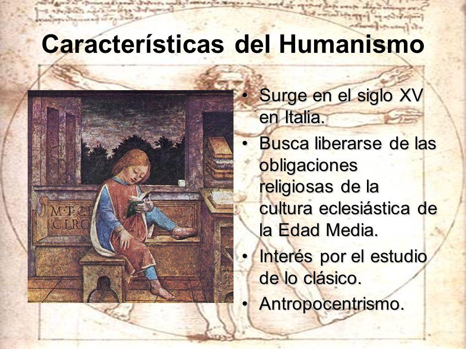 Características del Humanismo