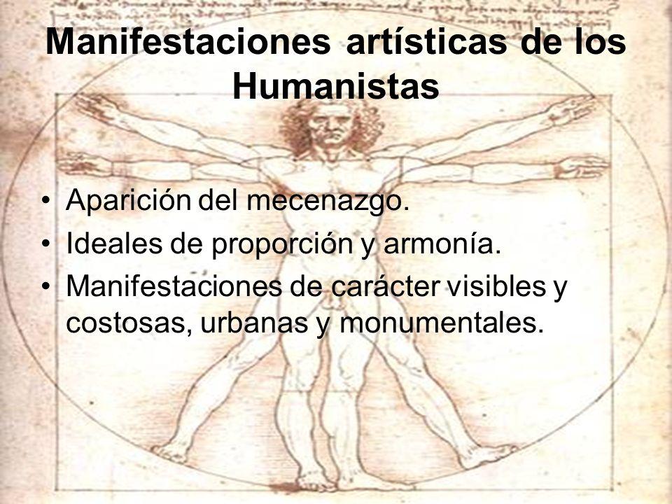 Manifestaciones artísticas de los Humanistas