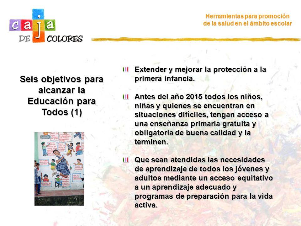 Seis objetivos para alcanzar la Educación para Todos (1)