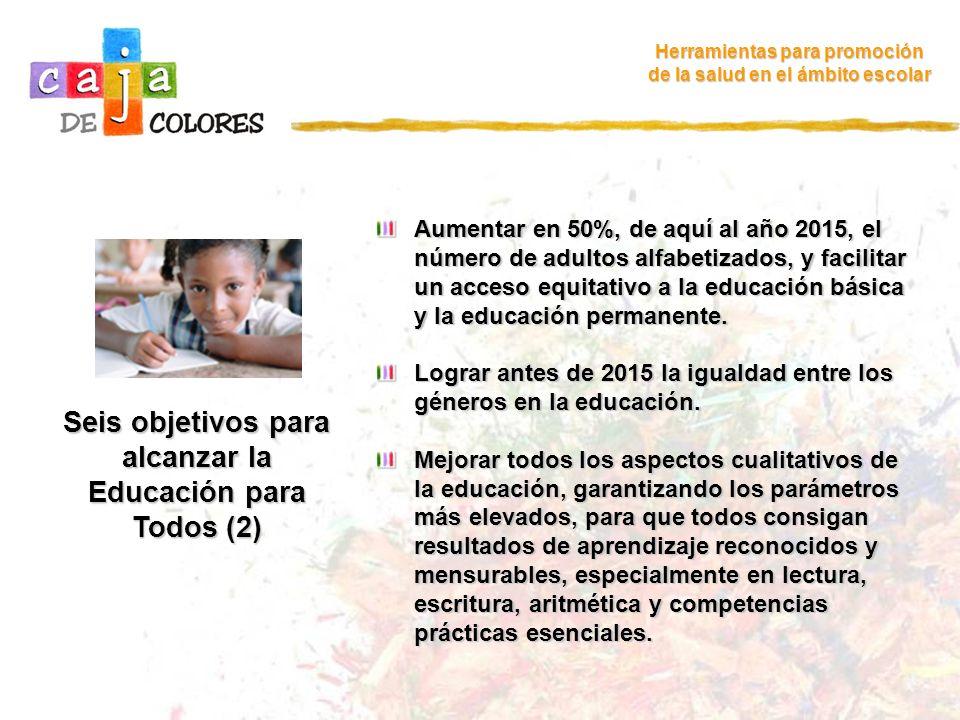 Seis objetivos para alcanzar la Educación para Todos (2)