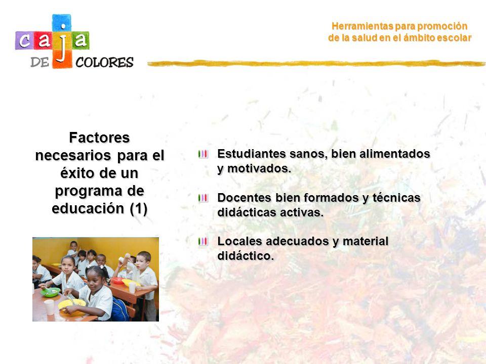 Factores necesarios para el éxito de un programa de educación (1)