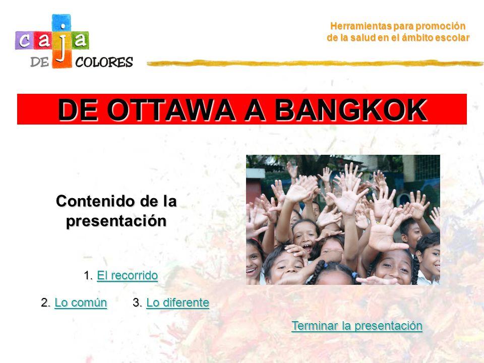 DE OTTAWA A BANGKOK Contenido de la presentación 1. El recorrido