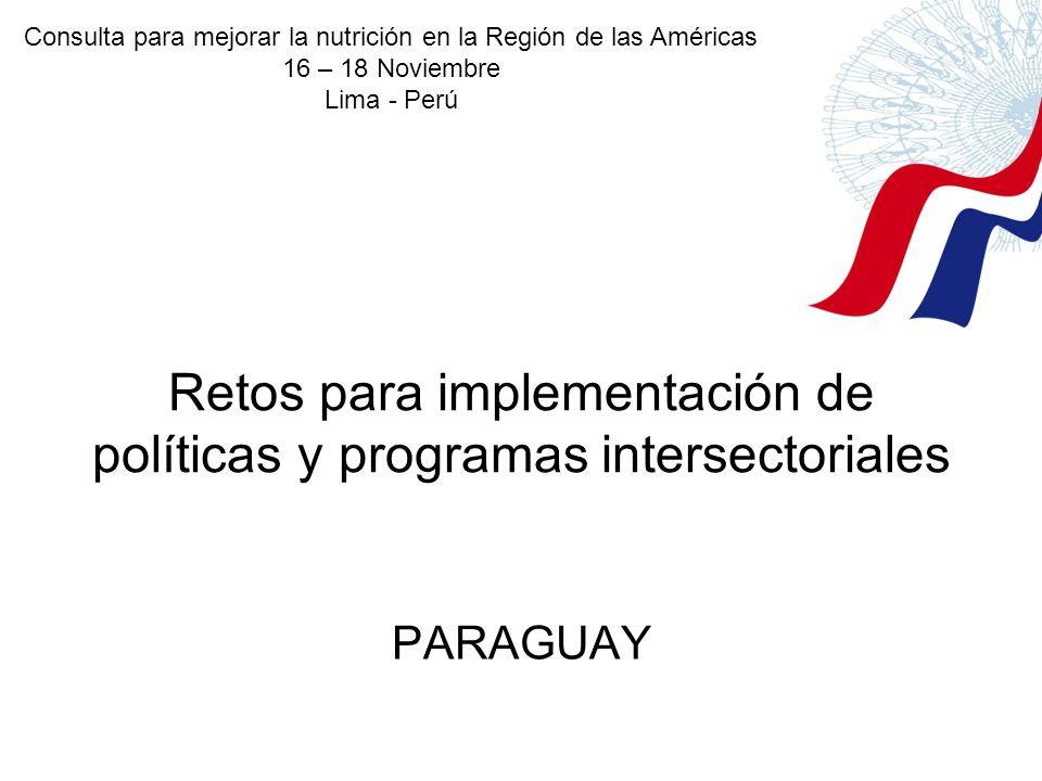 Retos para implementación de políticas y programas intersectoriales