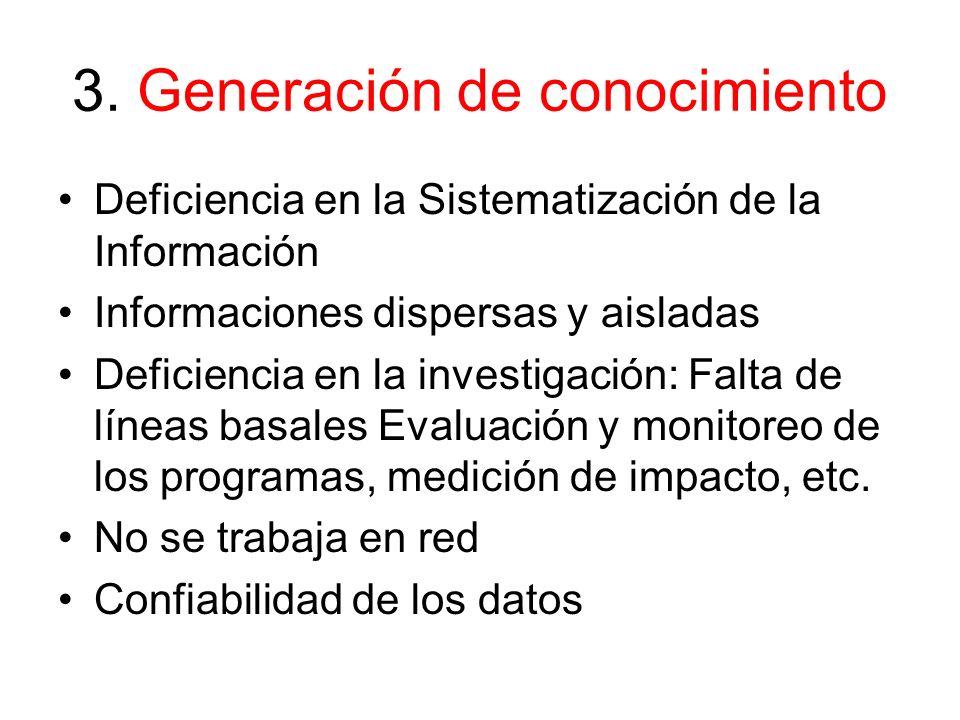 3. Generación de conocimiento