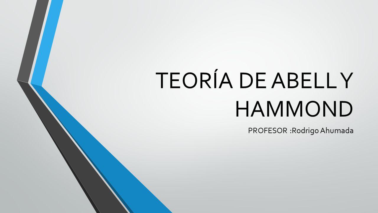 TEORÍA DE ABELL Y HAMMOND