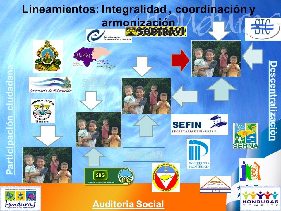 Lineamientos: Integralidad , coordinación y armonización