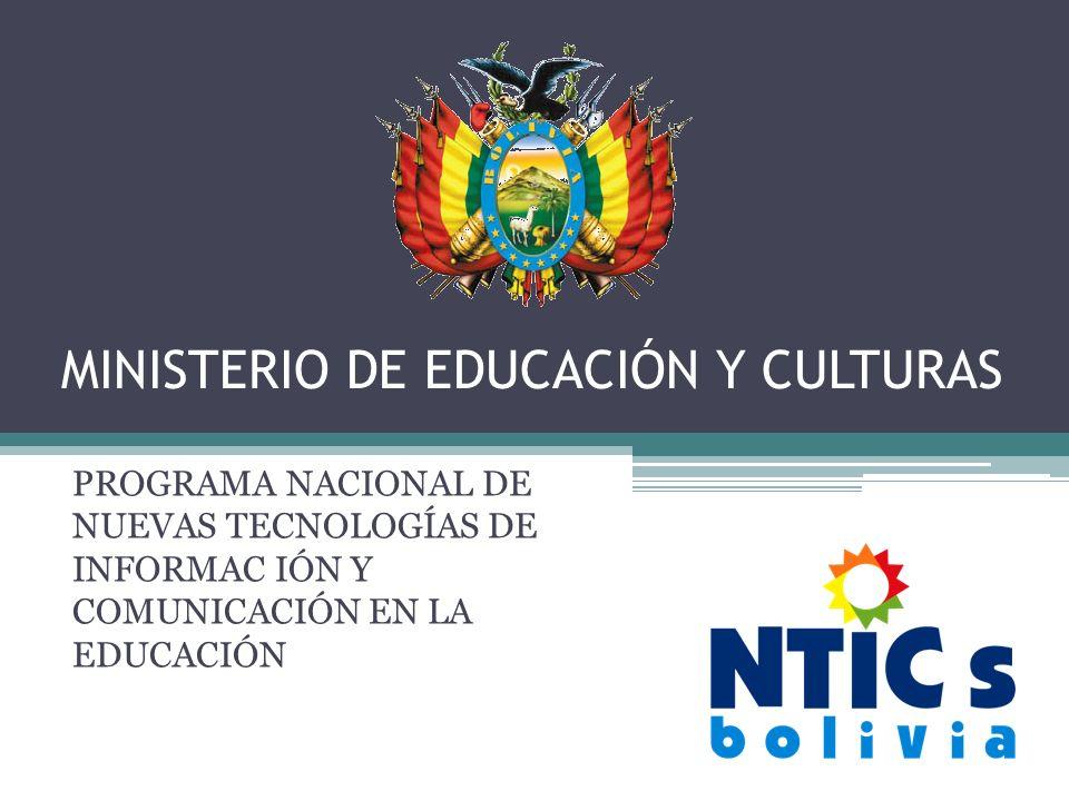 MINISTERIO DE EDUCACIÓN Y CULTURAS