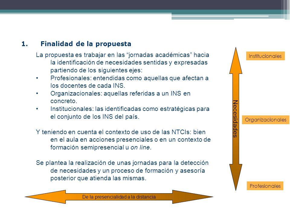 1. Finalidad de la propuesta