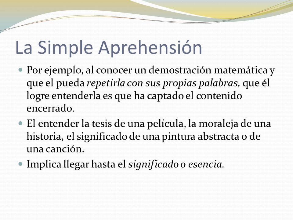 La Simple Aprehensión