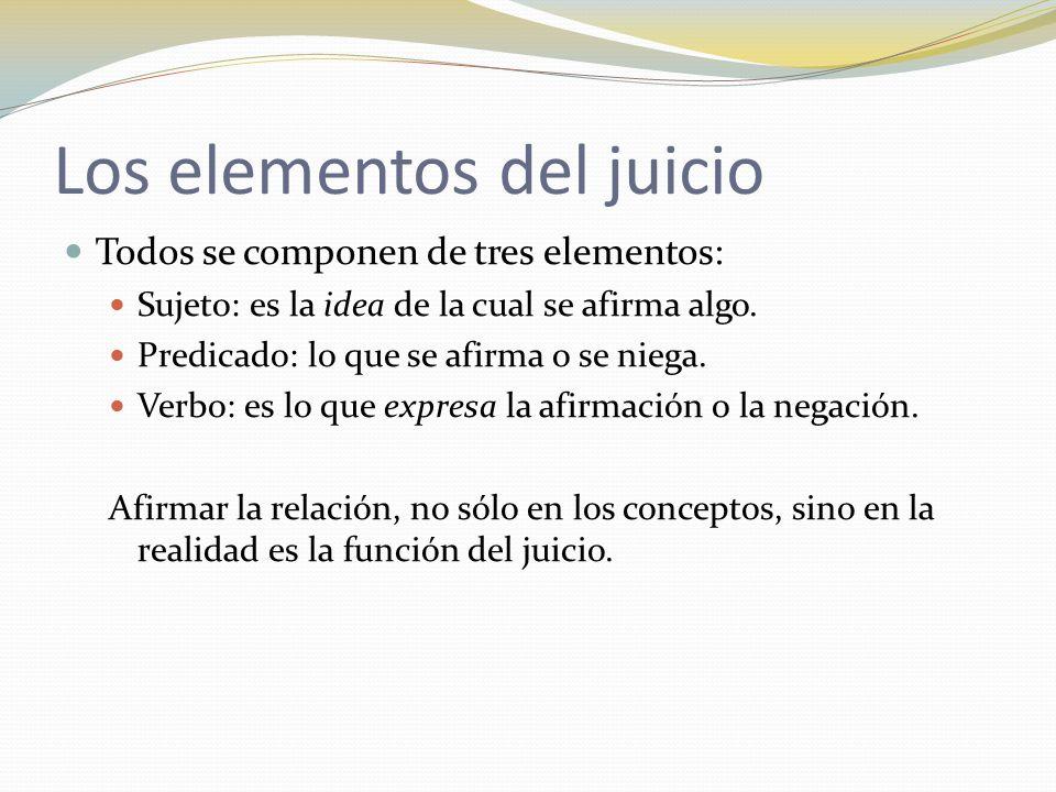Los elementos del juicio