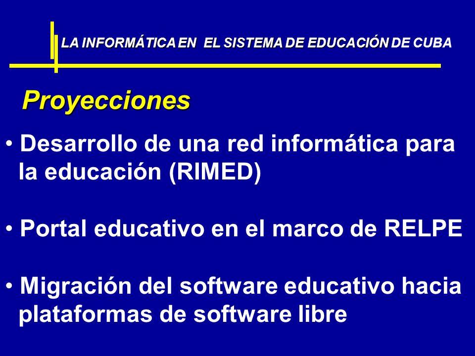 Desarrollo de una red informática para la educación (RIMED)