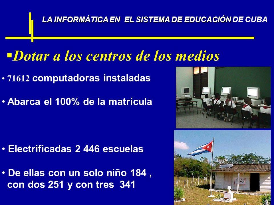 LA INFORMÁTICA EN EL SISTEMA DE EDUCACIÓN DE CUBA