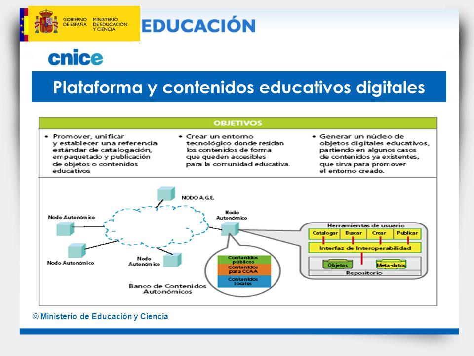 Plataforma y contenidos educativos digitales