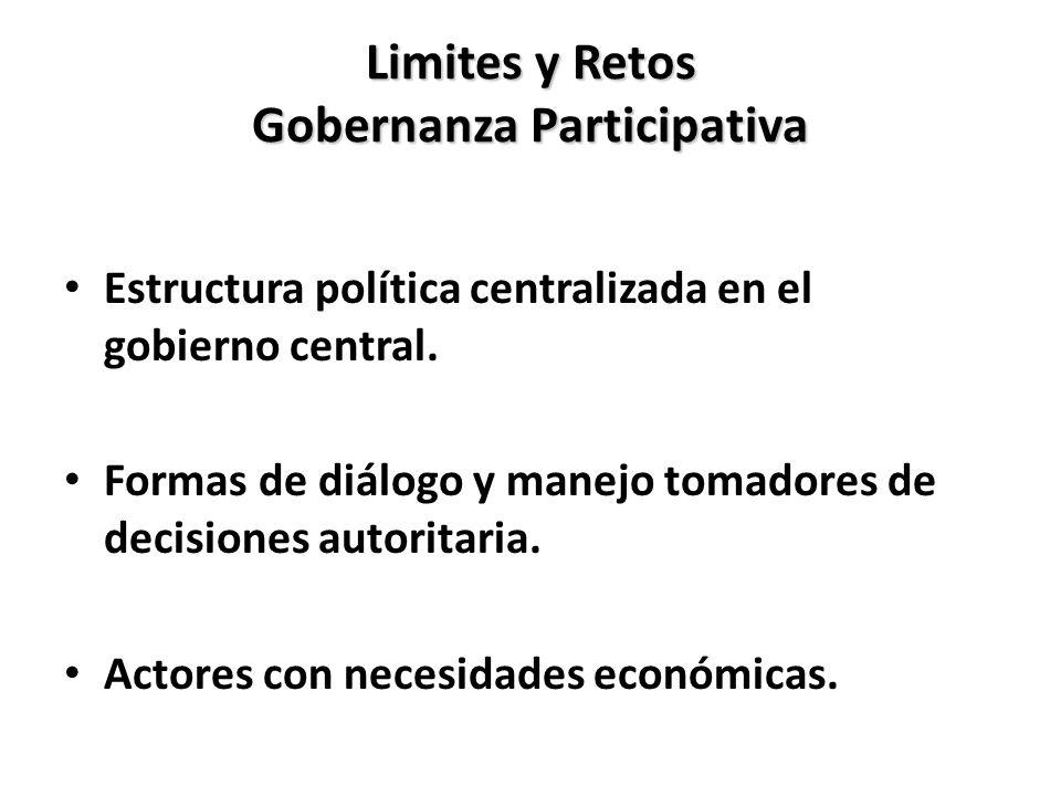 Limites y Retos Gobernanza Participativa
