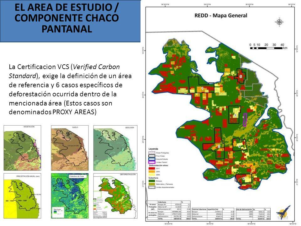 EL AREA DE ESTUDIO / COMPONENTE CHACO PANTANAL