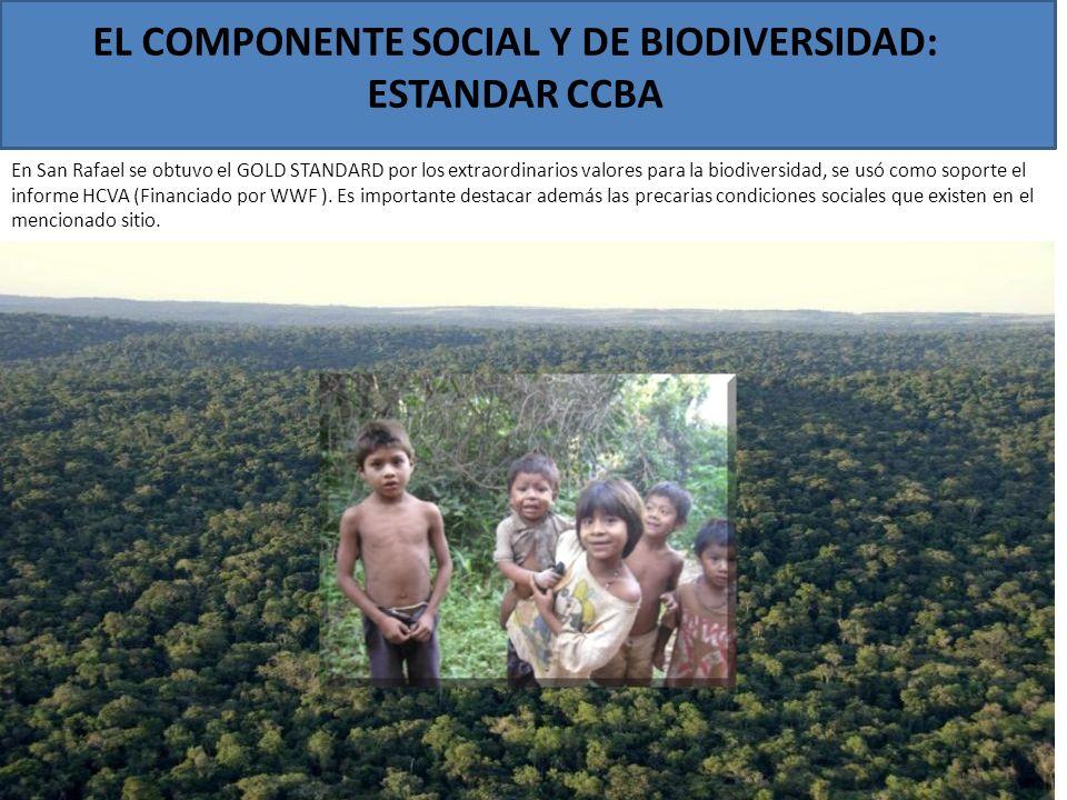 EL COMPONENTE SOCIAL Y DE BIODIVERSIDAD: