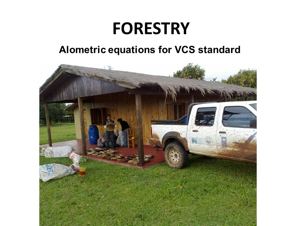 FORESTRY Alometric equations for VCS standard