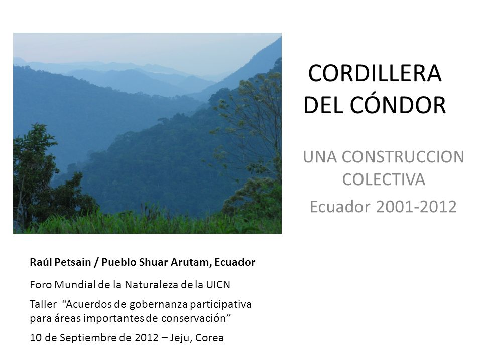 UNA CONSTRUCCION COLECTIVA Ecuador 2001-2012