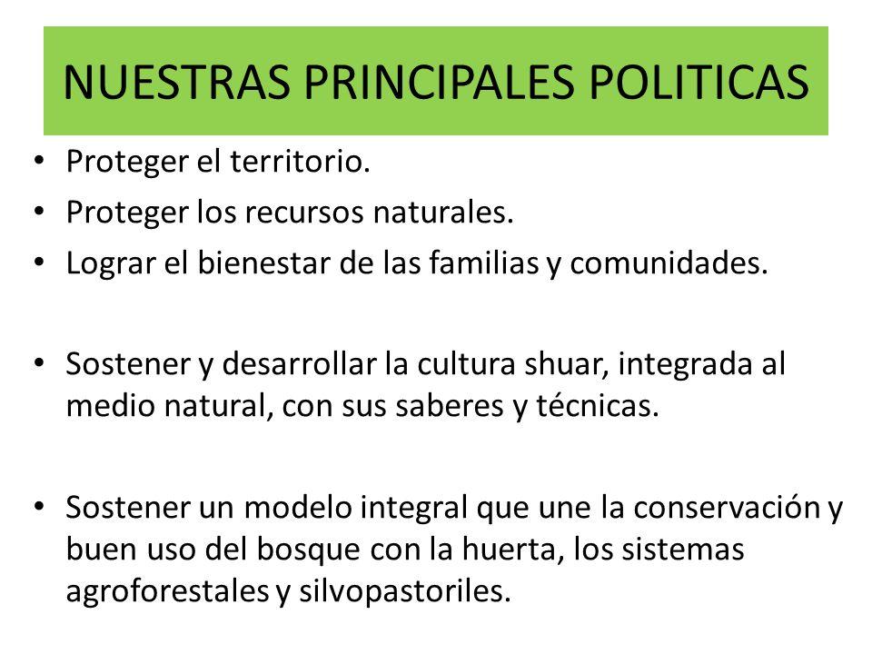 NUESTRAS PRINCIPALES POLITICAS