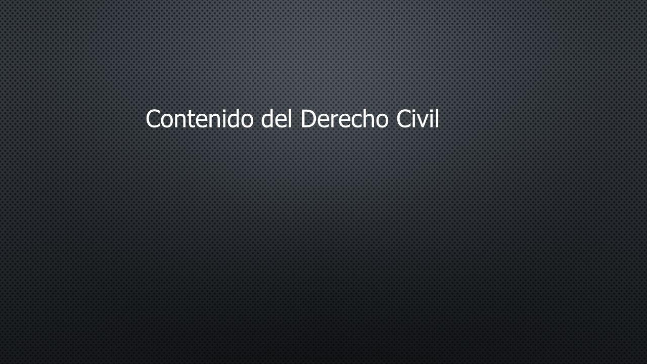 Contenido del Derecho Civil