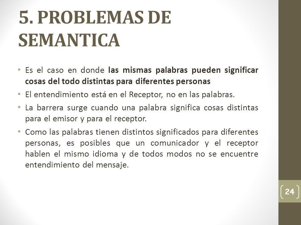 5. PROBLEMAS DE SEMANTICA