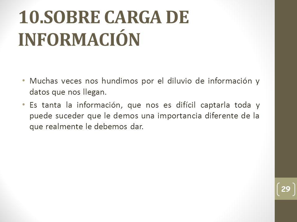10.SOBRE CARGA DE INFORMACIÓN