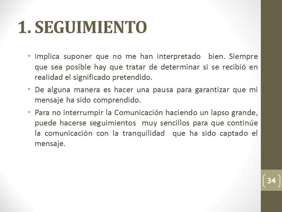 1. SEGUIMIENTO