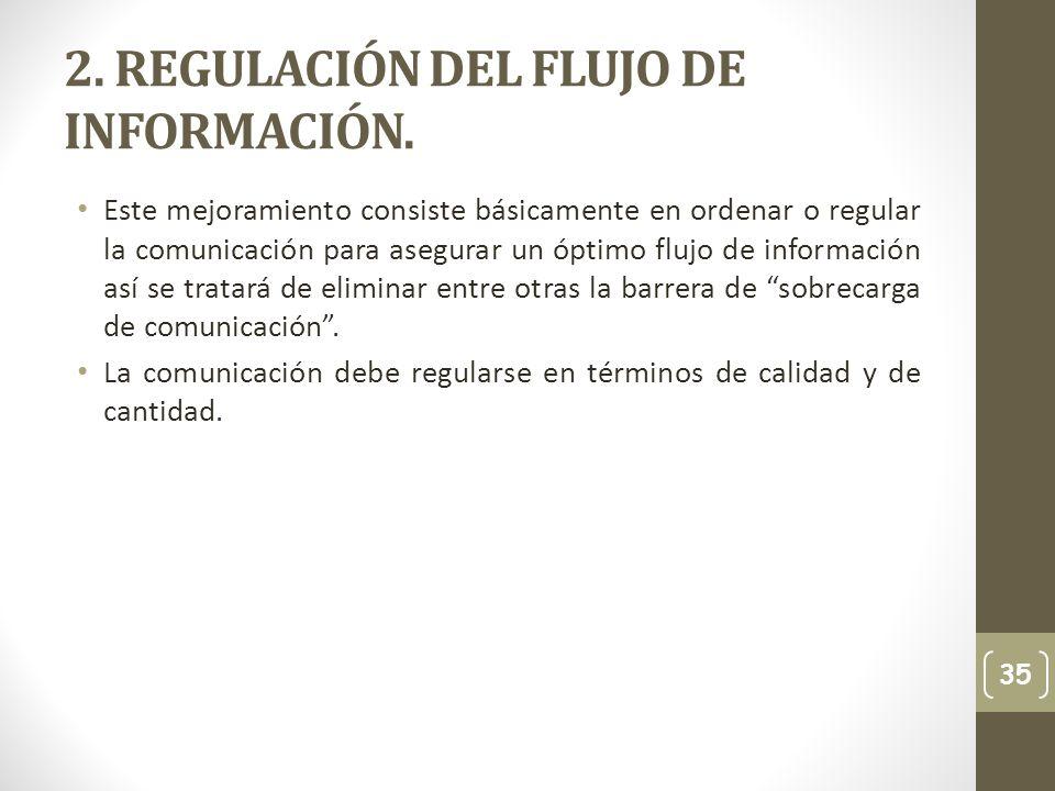 2. REGULACIÓN DEL FLUJO DE INFORMACIÓN.